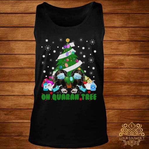 Daschund Oh Quaran Tree Shirt tank-top