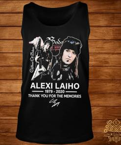 Alexi Laiho 1979 2020 Thank You For The Memories Signature Shirt tank-top