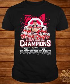 Allstate Sugar Bowl Champions Ohio State Buckeyes 49 Clemson Tigers 28 Signatures Shirt