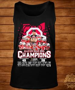 Allstate Sugar Bowl Champions Ohio State Buckeyes 49 Clemson Tigers 28 Signatures Shirt tank-top