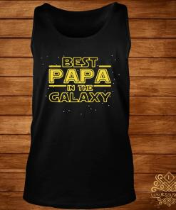 Best Papa Galaxy Birthday Father's Day Shirt tank-top