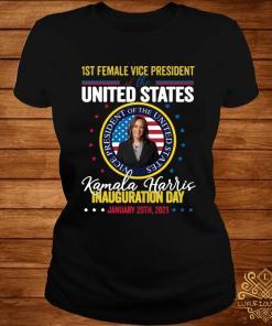 Kamala Harris First Female Vice President Inauguration Day Shirt ladies-tee