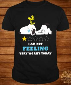 Snoopy And Woodstock I Am Not Felling Very Worky Today Shirt