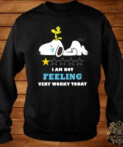 Snoopy And Woodstock I Am Not Felling Very Worky Today Shirt sweater
