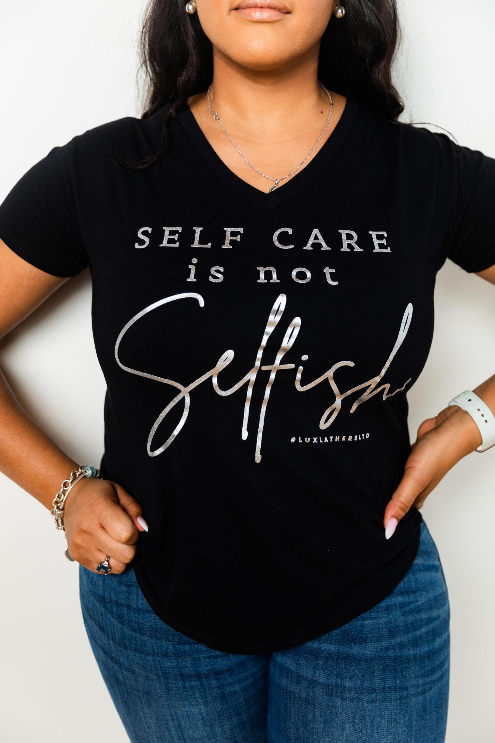 Regular V-Neck Self Care Tee