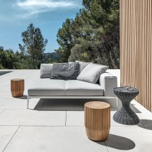 Gloster Grid Modular Sofa - End Unit Luxury Outdoor Living