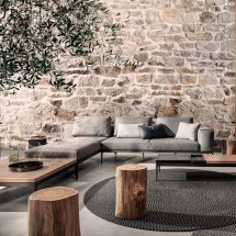 Gloster Grid Modular Sofa - Chaise Unit Luxury Outdoor
