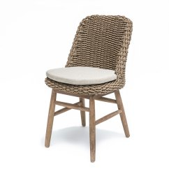 White Wicker Dining Chairs Uk High Heel Shoe Chair Canada Gommaire Sienna Teak And Rattan Set Of 2