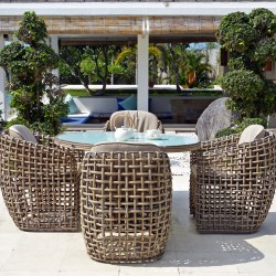 dynasty skyline oval dining luxury table outdoor living