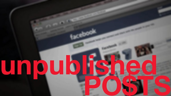 Facebook-unpublished-posts
