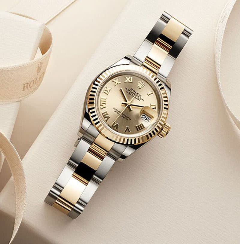 Rolex-Lady-Datejust-26-Gold-Dial-18K-Yellow-Gold-President-Automatic-Watch