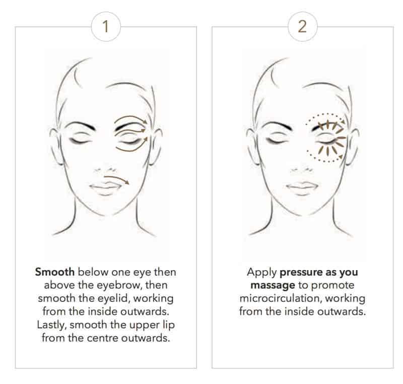 Sisleya-integral-eye-lip-cream-massage-gesture