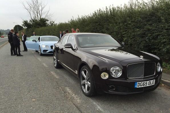 Afslutningen på weekenden foregik med et fabriksbesøg hos Bentley.