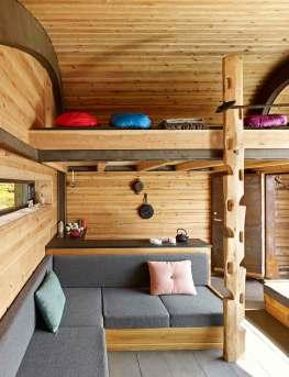 """Vi har brugt meget tid på at finde ud af, hvor og hvordan man ville sove – i hvilken retning skal fødderne vende?"""" spørger arkitekten Kjetil Thorsen."""