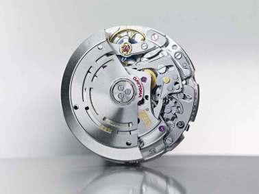 Alle Rolex' værker designes, produceres og samles inhouse. Her er det kaliber 4130, som benyttes i det legendariske Daytona.