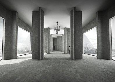 Kontrasten mellem den gamle og rå betonsilo og de arkitekttegnede luksuslejligheder skaber en magisk stemning, når man bevæger sig fra rum til rum.