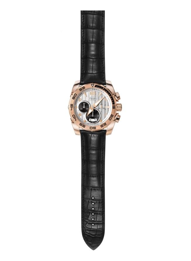 Pershing 005, 45 mm kronograf i rødguld, Hermès krokorem og med sort eller hvid skive til 372.000 kroner.