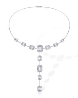 Muse-collier af 18 karat hvidguld med i alt 7.25 carat. 472.425 kroner