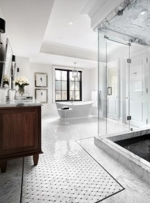 Luxury White Marble Bathroom Design Ideas
