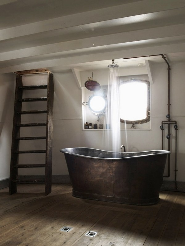 Rustic Industrial Bathroom