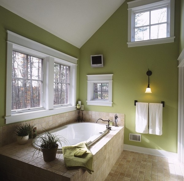Green and Beige Bathroom Ideas