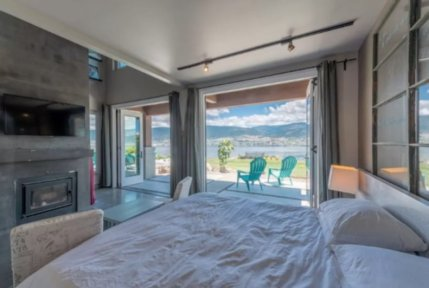 okanagan lake front concrete house airbnb 2