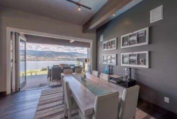 okanagan lake front concrete house airbnb 4