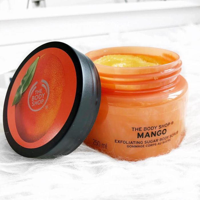 The Body Shop Mango Sugar Body Scrub Review