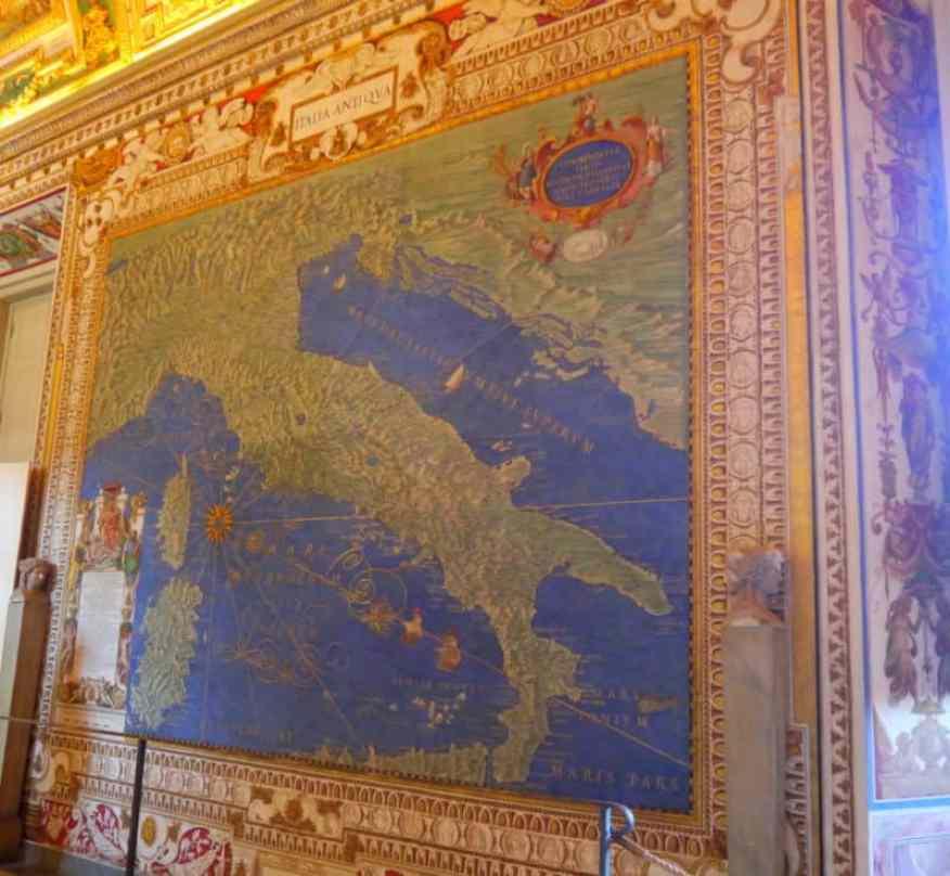 Vatican Map Room detail