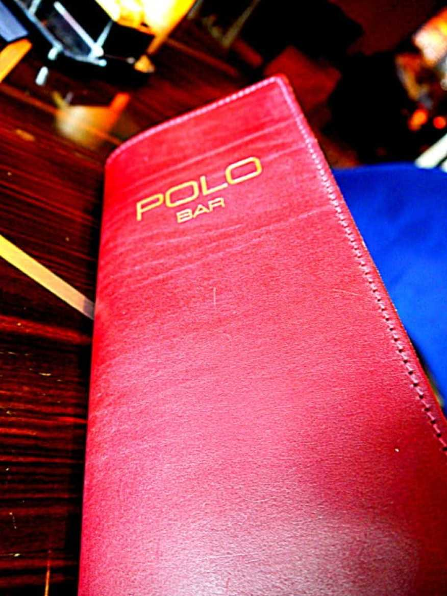 Polo Bar Westbury menu