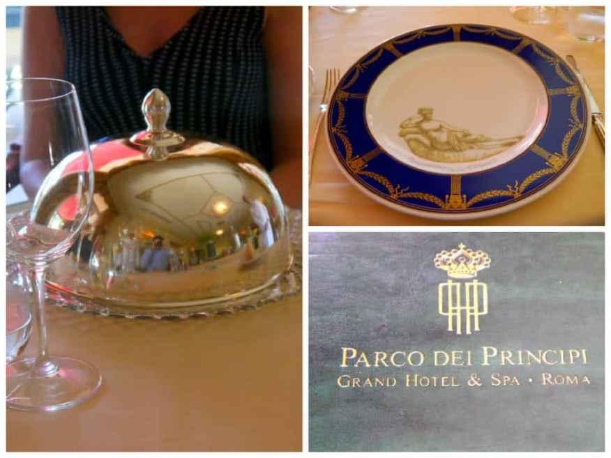 Parco dei Principi menu