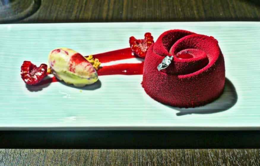 Yauatcha raspberry delice