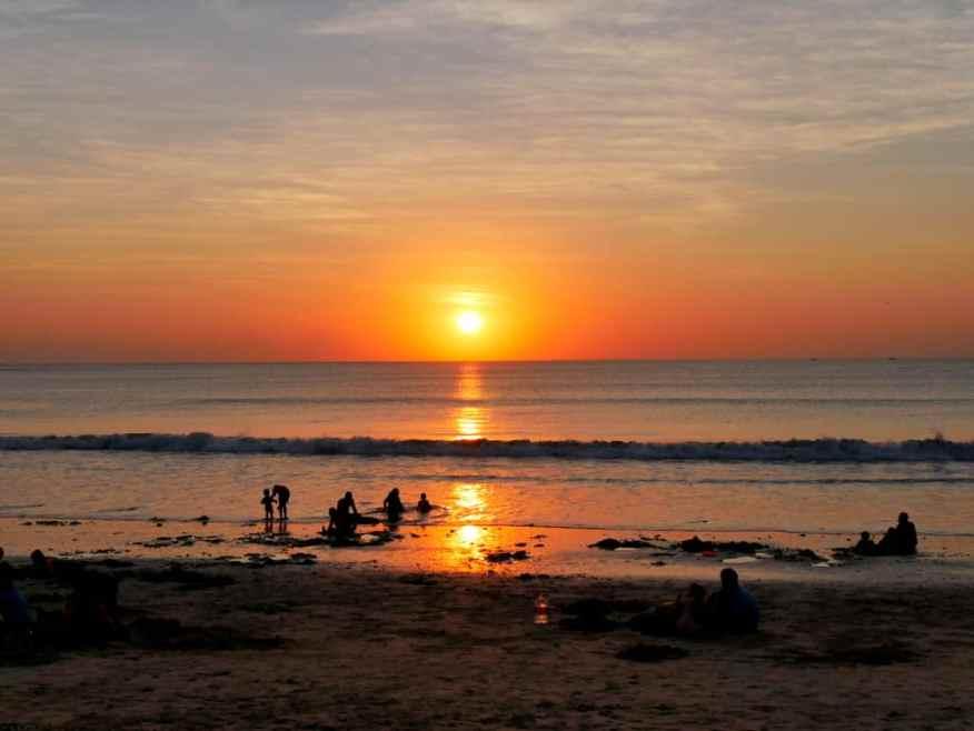 Sunset Jimbaran beach
