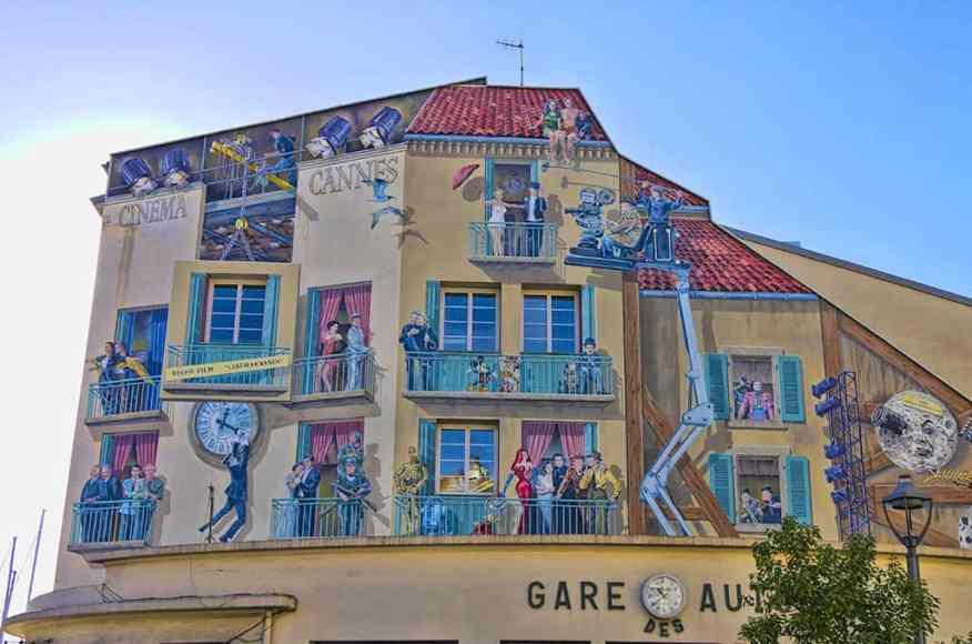 Cannes Film mural