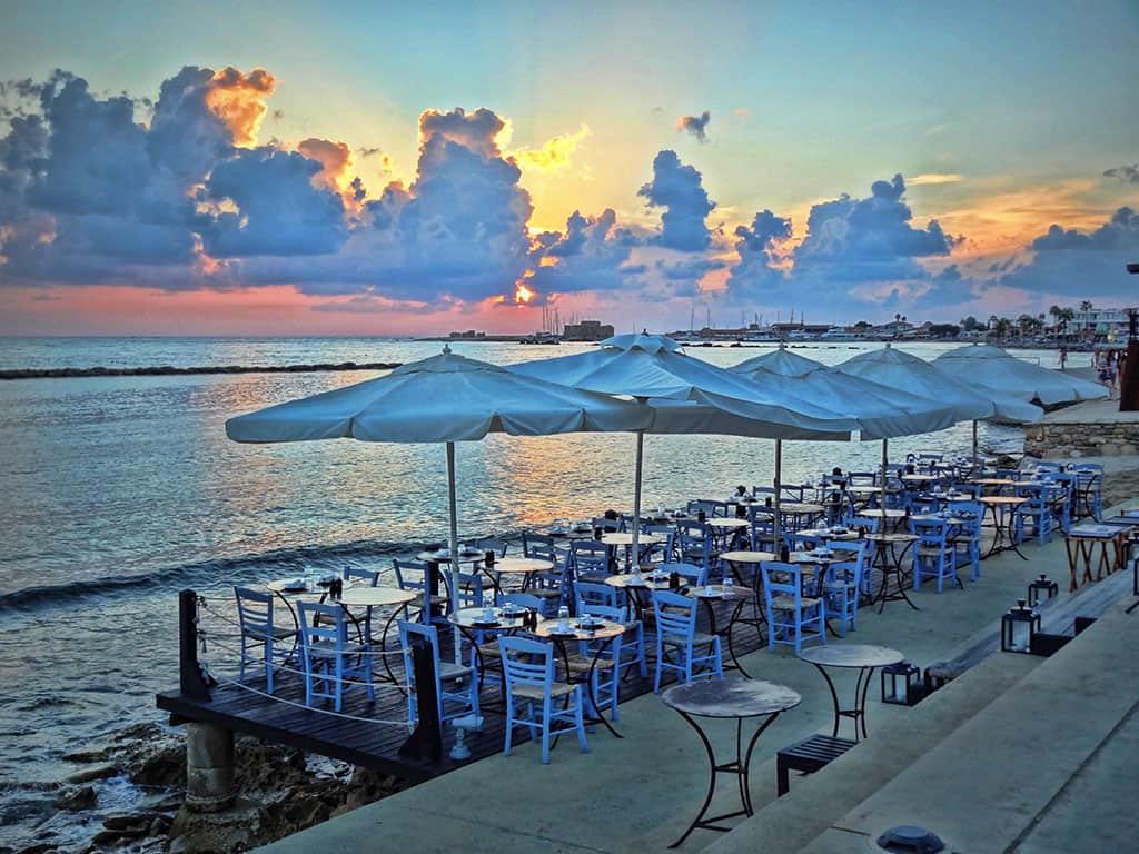 Paphos harbour view restaurant
