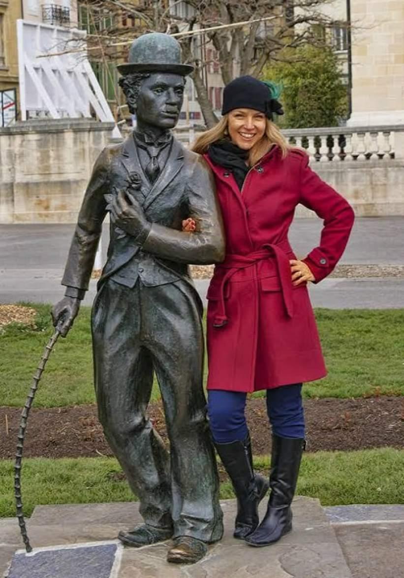 Charlie Chaplin statue in Vevey, Switzerland - Luxury Columnist - a top luxury blog