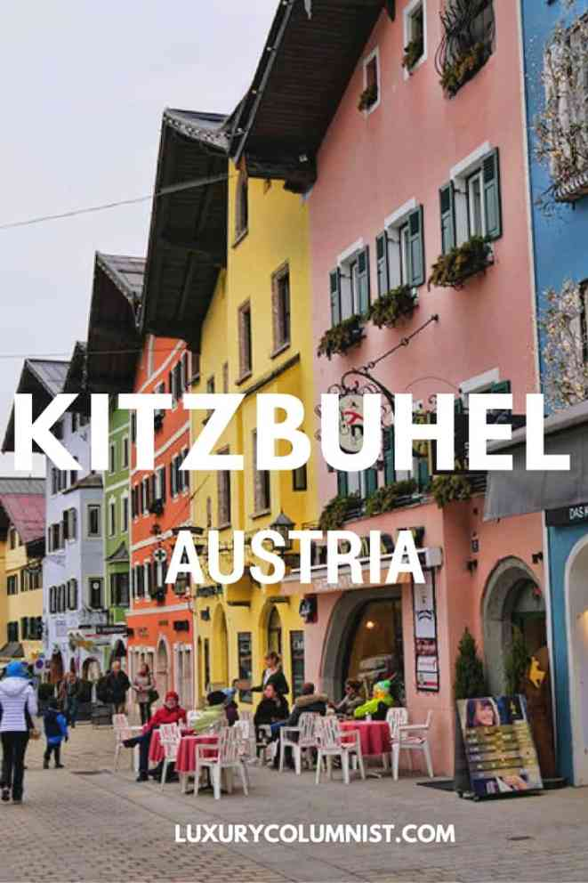 Kitzbuhel, Austria - the World's Best Ski Resort has some stunning medieval houses, lovely restaurants and shops