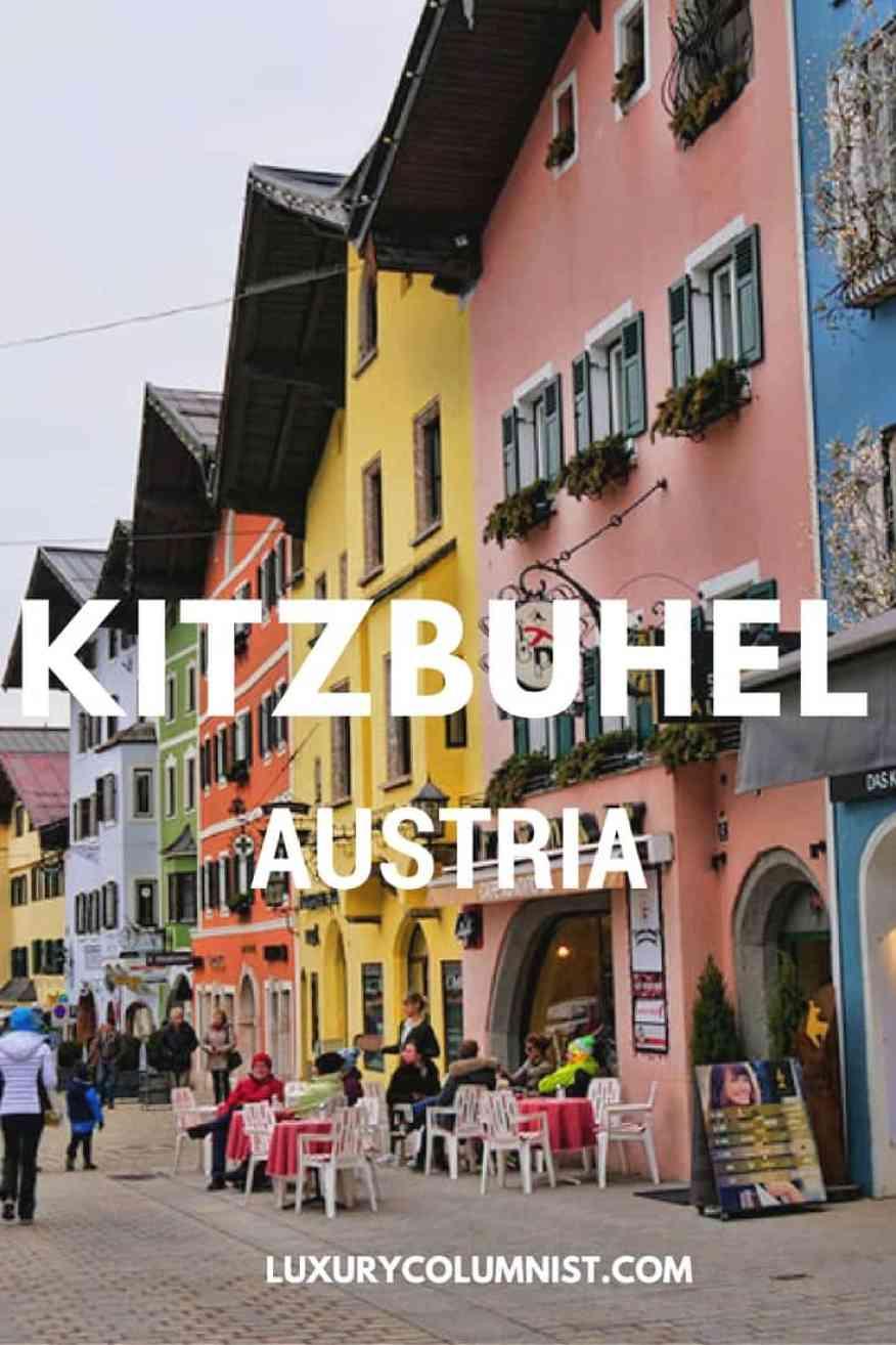 Kitzbuhel, Austria - the World's Best Ski Resort has some stunning medieval houses, lovely restaurants and shops