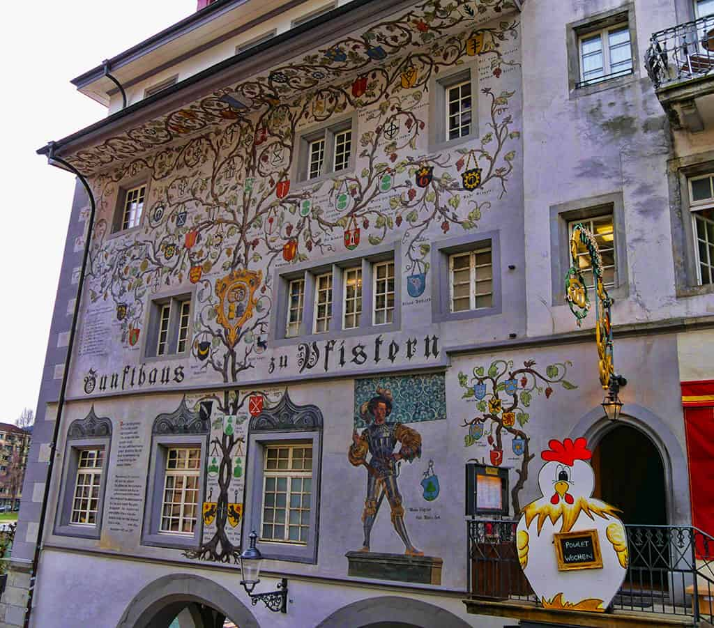 The historic centre of Lucerne, Switzerland, has some beautiful painted buildings - Luxury Columnist - UK blog