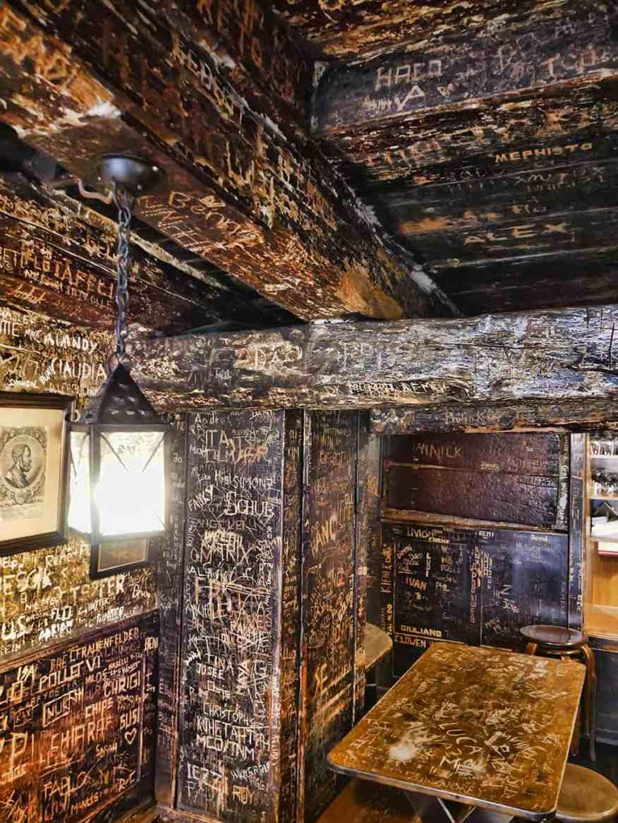 Graffiti at the Oepfelchammer restaurant in Zurich, Switzerland - Luxury Columnist - Food, Style & Travel Blog