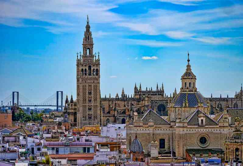 Seville City Centre - View of Seville Cathedral