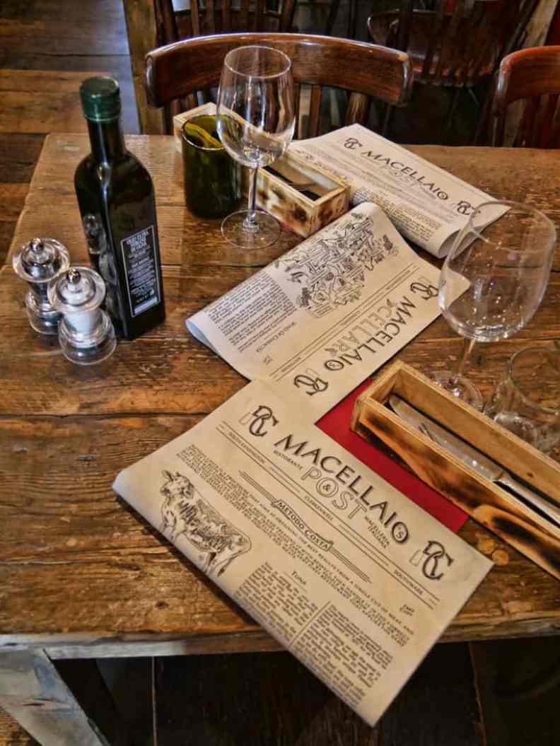 Macellaio menu at Exmouth Market