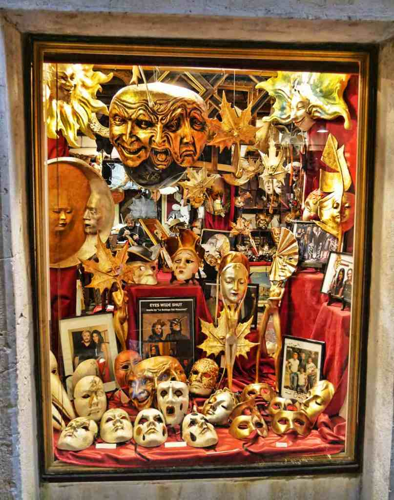 Ca Macana, a famous mask shop in Venice, Italy that features in Eyes Wide Shut