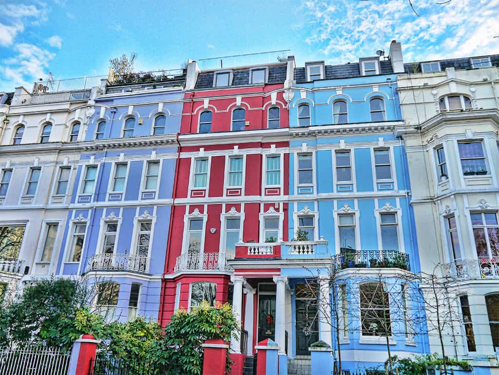 Notting Hill colourful houses