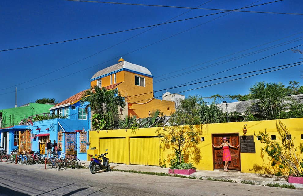 Tulum colourful street