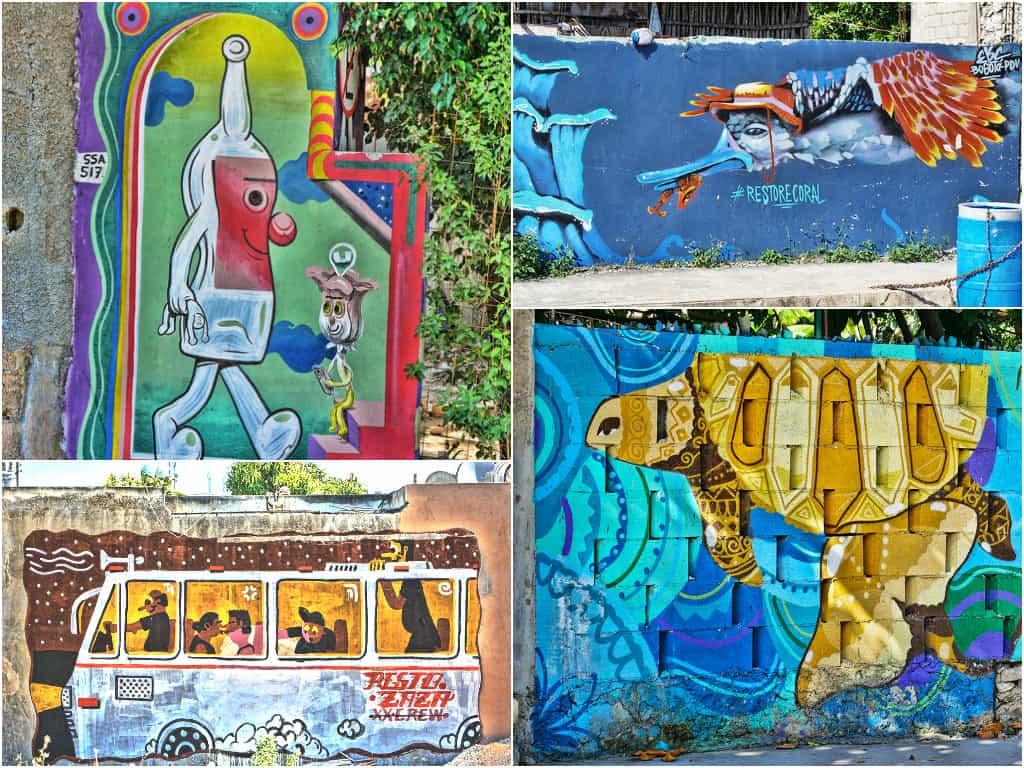 Tulum street art murals