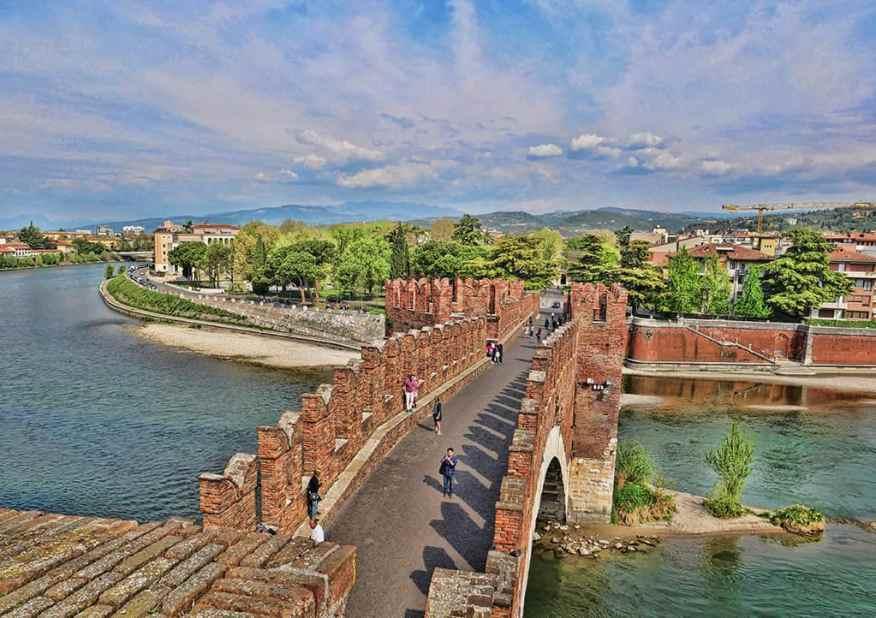 Castelvecchio Bridge is one of Verona's most picturesque sights