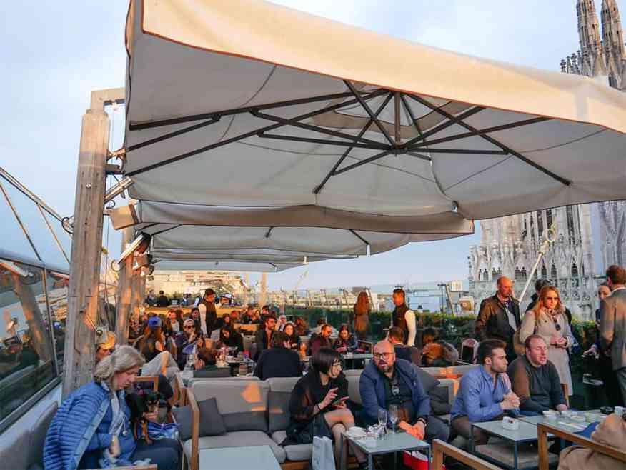 La Rinascente, Milan rooftop bar