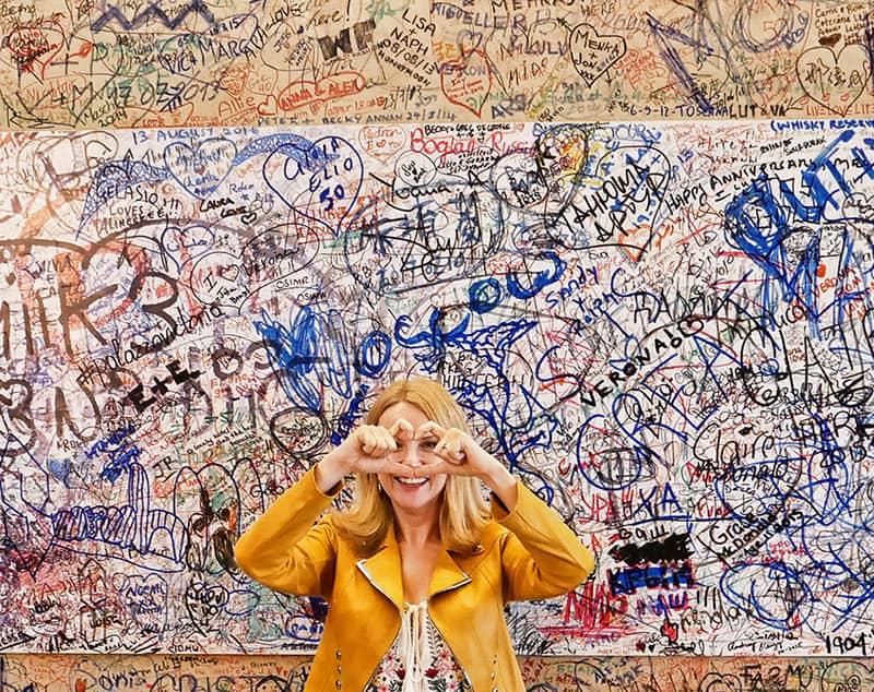 The Love Wall at Palazzo Victoria, Verona, Italy