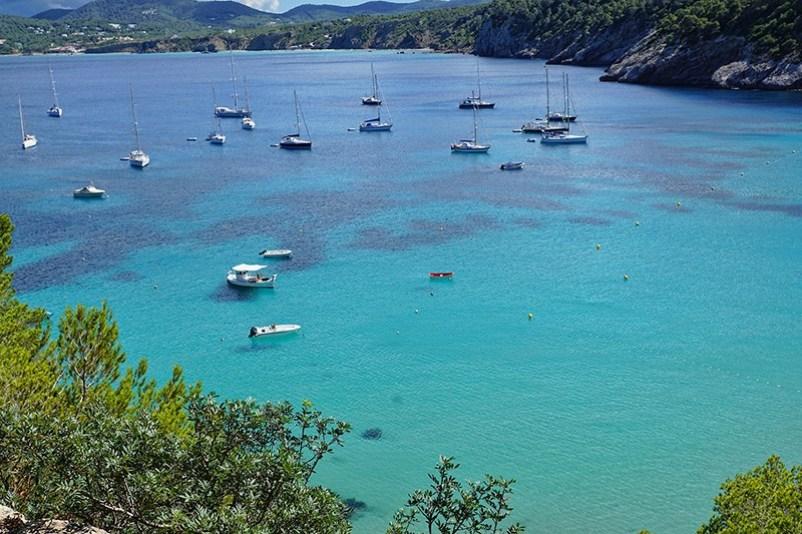 Ibiza island bay in Spain